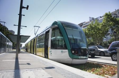 noone: Tram at Francesc Macia, Barcelona, Spain