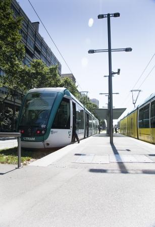 francesc: Tram at Francesc Macia, Barcelona, Spain