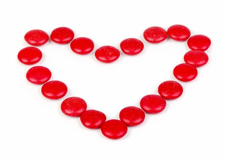 glazed: Heart of red glazed candies