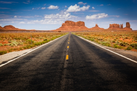 View of Monument Valley from Highway 163 Stock Photo - 24660225