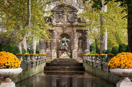 medici: Medici Fountain in the Luxembourg Garden, Paris