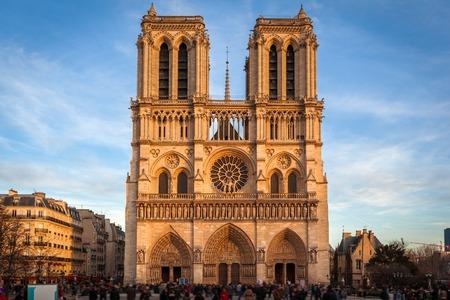 De kathedraal van Notre Dame, Paris Stockfoto