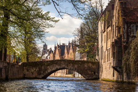 View of a Bruges canal, Belgium