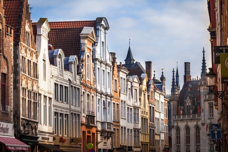 View of Steenstraat, Bruges, Belgium