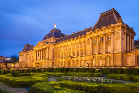 The Royal Palace in the historical center of Brussels, Belgium
