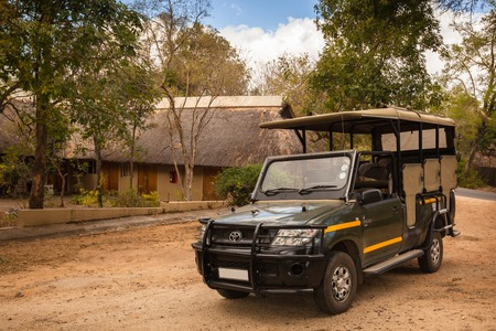 A safari car used for game drive in Kruger National Park, South Africa Redakční
