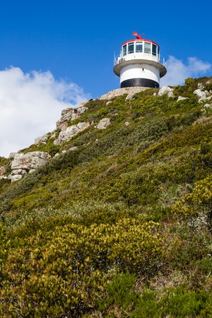 The old lighthous ot the top of Cape Point, South Africa