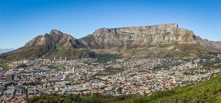cape town: View of the Table Montain, Devil