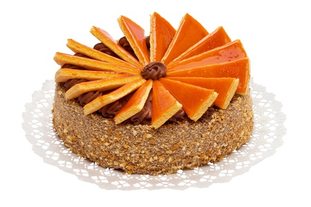 Big sized famous Hungarian Dobos torte - cake with special frosting