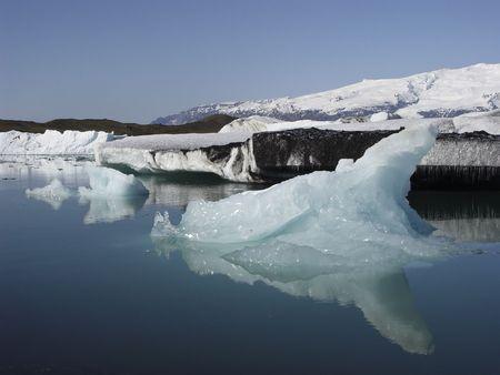 Iceberg on the largest glacial lake in Iceland, Jokulsarlon, Iceland, Europe