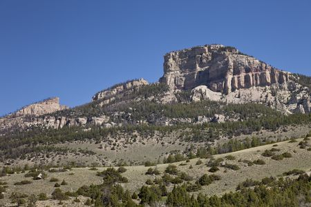 Copmans Tomb near Shell Falls, Big Horn Mountains, Wyoming, USA