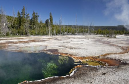Abyss Pool is a hot spring in Yellowstone National Park, Wyoming, USA Stock Photo
