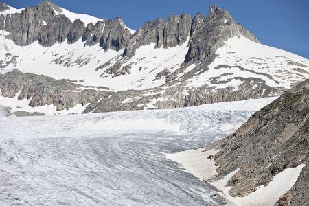 Rhone Glacier, a glacier in the Swiss Alps, Switzerland, Europe