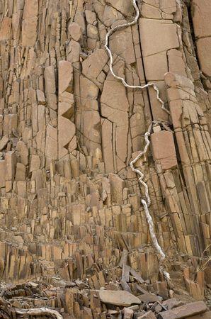 Volcanic rocks near Twyfelfontein, Kunene Region, Namibia, Southern Africa Stock Photo