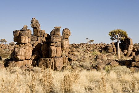 Giants Playground near Keetmanshoop, a masterpiece of erosion, Republic of Namibia, Southern Africa Stock Photo