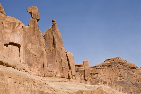Rock formation in Arches National Park, Utah, USA