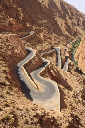 Gorges du Dades, Dades Gorges, Atlas Mountains, Kingdom of Morocco, North Africa