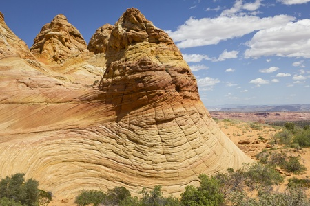 Colorful sandstone, Coyote Buttes South, Paria Canyon-Vermilion Cliffs Wilderness, Arizona, USA Stock Photo