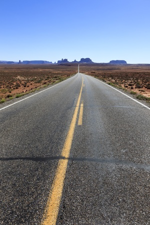 On the road to Monument Valley, Southwestern United States, USA