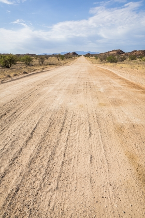 On the road in Namibia, Southern Africa