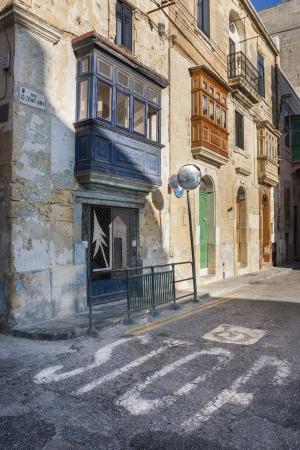 An urban scene in Senglea, in Maltese L-Isla, a fortified city on the island of Malta, Southern Europe Stock Photo