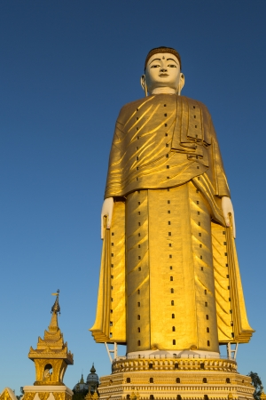 Laykyun Setkyar is the second tallest statue in the world, located in the village of Khatakan Taung, near Monywa, Myanmar, Southeast Asia Stock Photo