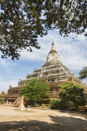 Shwesandaw Pagoda, this Buddhist pagoda was built by King Anawrahta in 1057, Bagan, Myanmar, Southeast Asia