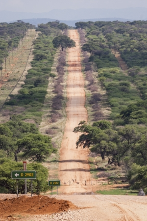 unpaved road: A typical unpaved road in Namibia, Southern Africa Stock Photo