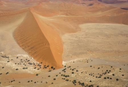 Aerial photo of the Namib-Naukluft National Park near Sossusvlei, Namibia, Southern Africa