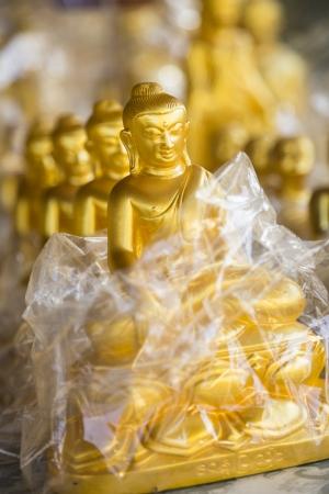 Buddha souvenirs close-up, shallow depth of field, Myanmar, Burma, Southeast Asia