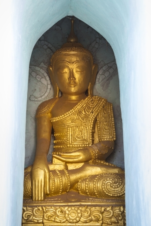 Golden Buddha statue, Indein, Myanmar, Burma, Southeast Asia
