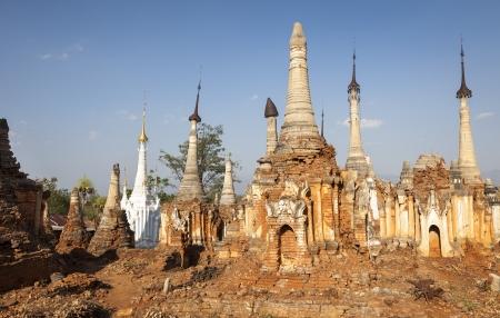 Old pagodas in Indein, Myanmar, Burma, Southeast Asia Stock Photo