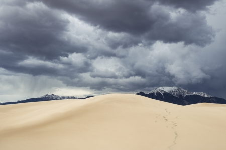 Upcoming storm over Great Sand Dunes National Park, Colorado, USA