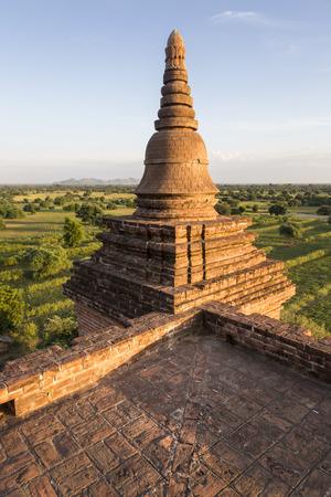 Part of a pagoda in Bagan, Myanmar, Burma, Southeast Asia