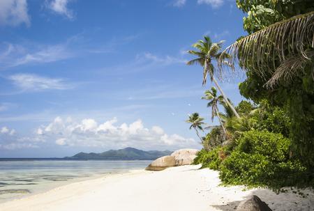Beach on the island of La Digue, Seychelles, Indian Ocean