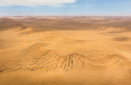 Aerial shot of the dunes in the Namib Desert, Republic of Namibia, Southern Africa Stock Photo