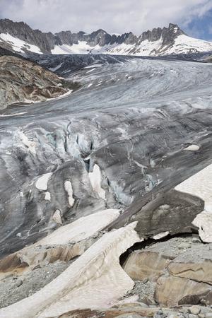 Rhone Glacier, Rohnegletscher in German, Swiss Alps, Switzerland, Europe