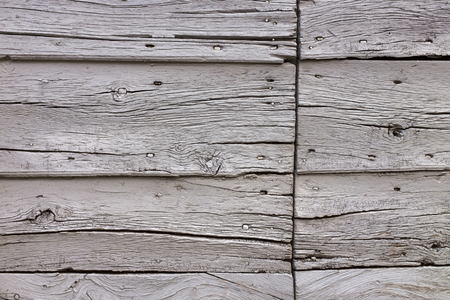 Part of an old wooden barn in Italy