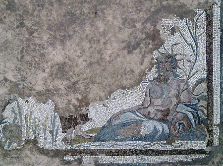 constantine: Mosaic in Mediana-Residence of Constantine the Great Stock Photo