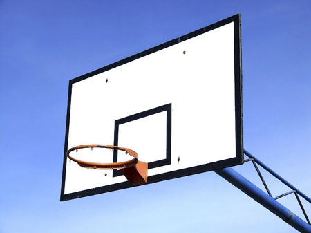 winning pitch: basketball table at school on sunny day
