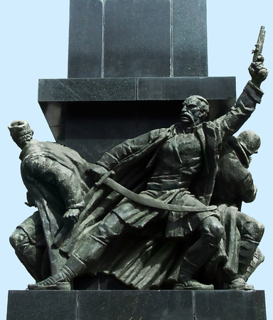 liberating: detail of monument to the liberators of Nis