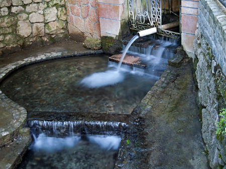fountainhead: source of thermal mineral water - suva banja in Niska banja, Serbia