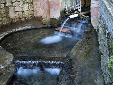 source of thermal mineral water - suva banja in Niska banja, Serbia
