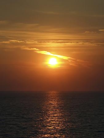 sunset on the adriatic sea Stock Photo