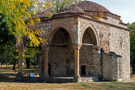 remains of the bali bey mosque in the medieval fortress in the Nis, Serbia
