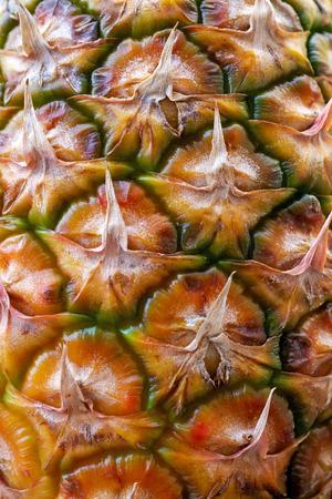 Texture of fresh ripe pineapple - close up Stock Photo