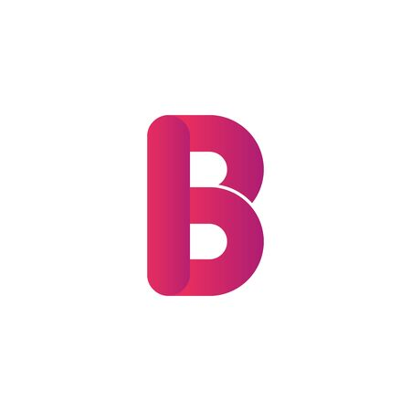 Colorful Creative Letter B Design Vector Template. Colorful Alphabet B . Letter B Typeface. Foto de archivo - 138043126