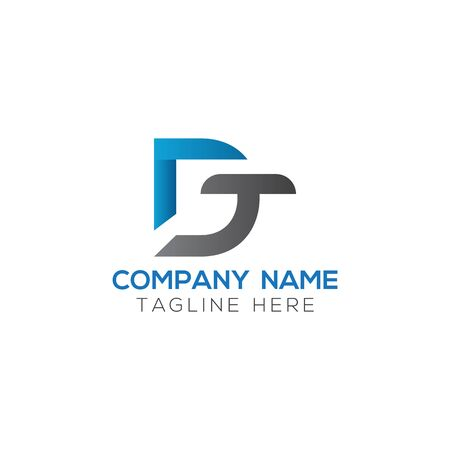Initial DT Letter Logo With Creative Modern Business Typography Vector Template. Creative Abstract Letter DT Logo Vector.
