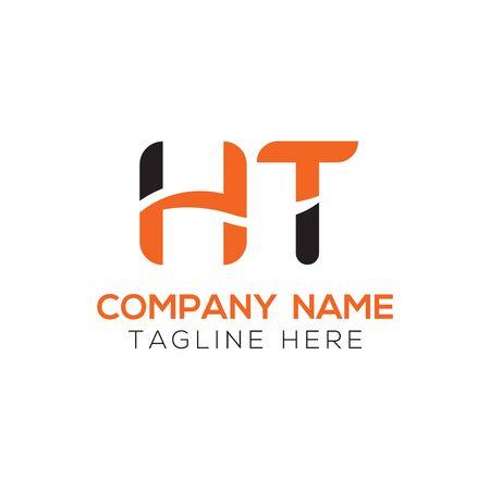 HT Logo Design Vector Template. Initial Linked Letter HT Vector Illustration Logó