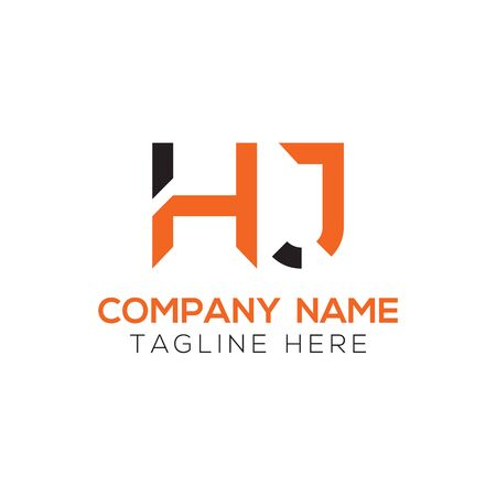 HJ Logo Design Vector Template. Initial Linked Letter HJ Vector Illustration